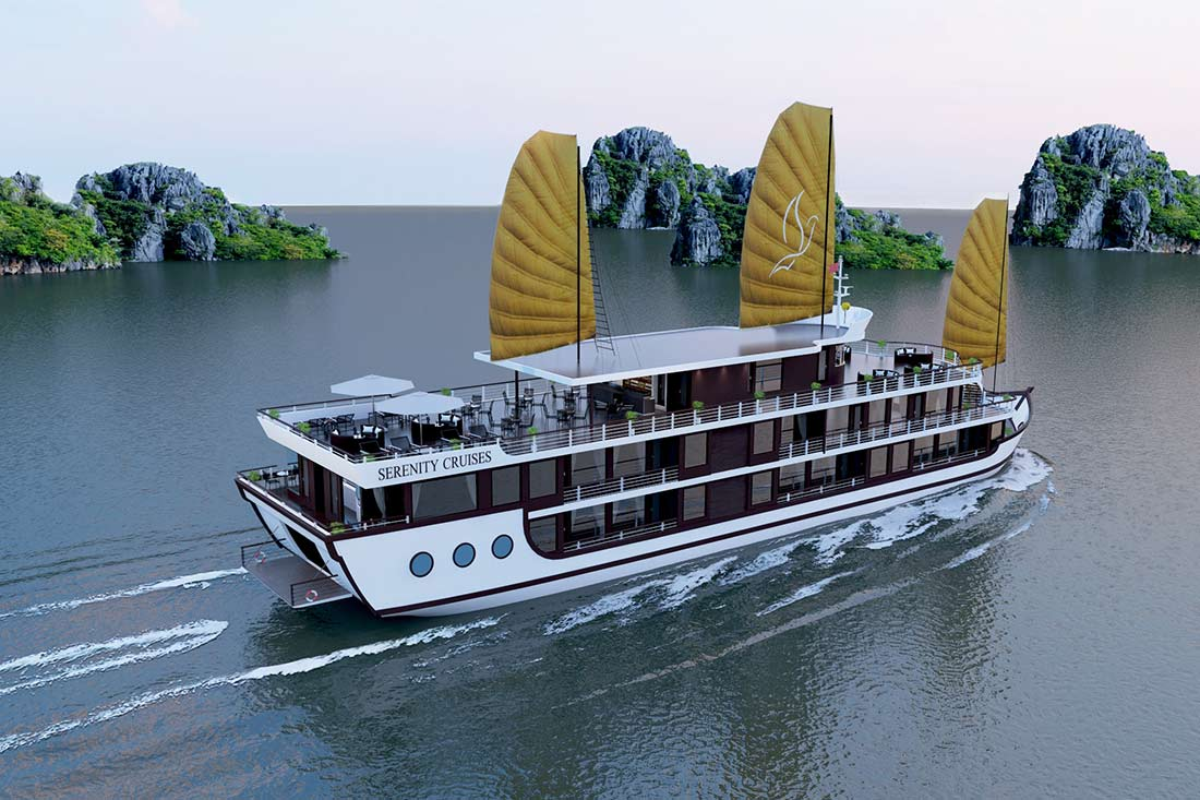 Du thuyền Serenity Cruises đẳng cấp 5 sao