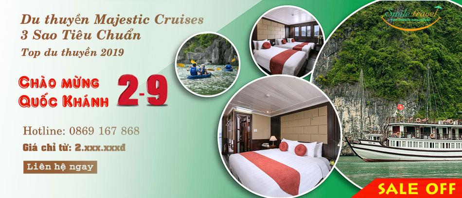 Du Thuyền Majestic Cruise 5* Siêu Khuyến Mại Dịp 2-9