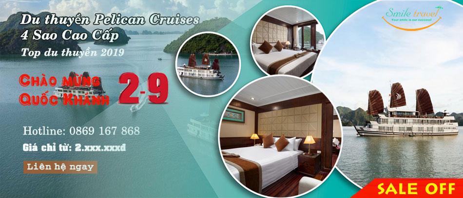 Du Thuyền Pelican Cruises 4* Siêu Khuyến Mại Dịp 2-9