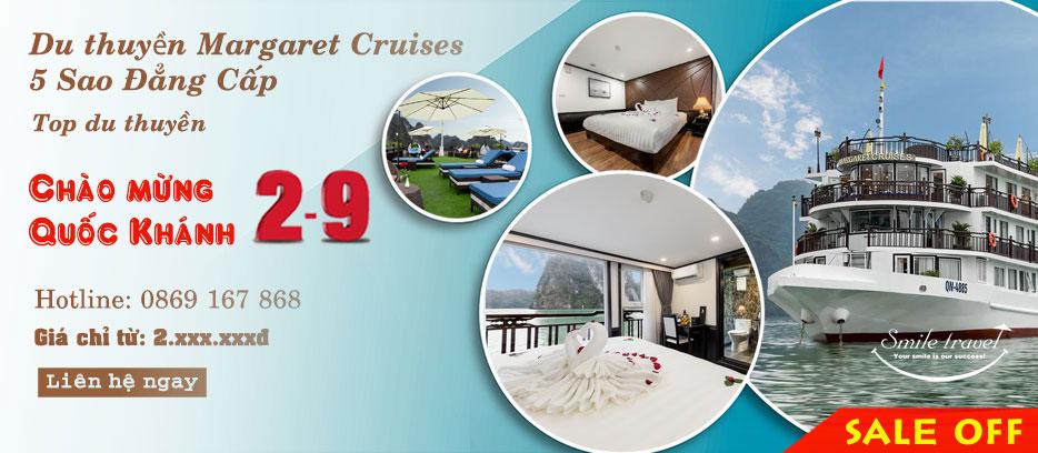 Du Thuyền Margaret Cruises 5* Siêu Khuyến Mại Dịp 2-9