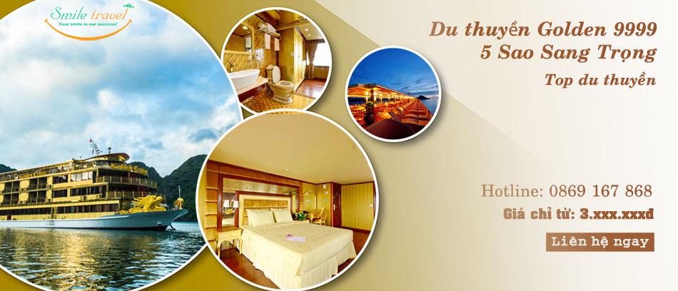 Du thuyền Golden Cruises 9999 5* Siêu Khuyến Mại Dịp 2-9