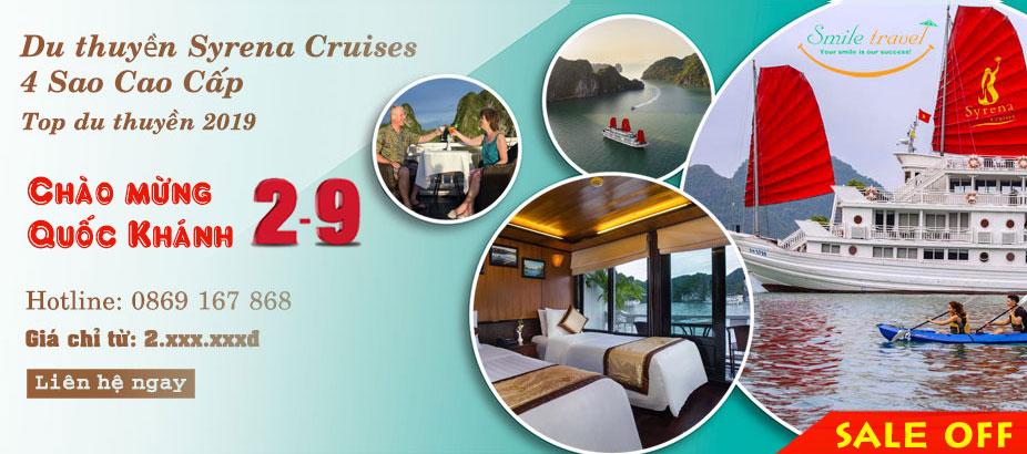 Du Thuyền Syrena Cruises 4* Siêu Khuyến Mại Dịp 2-9