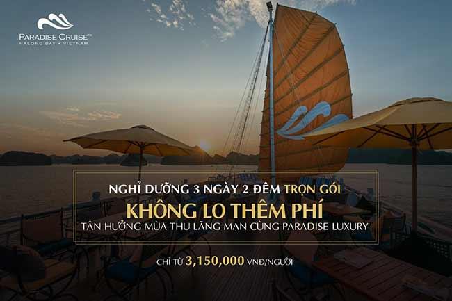 Tận hưởng mùa thu lãng mạn cùng du thuyền Paradise Luxury