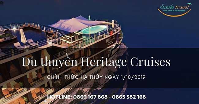 Du thuyền Heritage Cruises chính thức hạ thủy ngày 1/10/2019