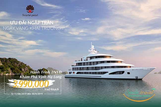Trải nghiệm du thuyền Scarlet Pearl chỉ từ 3.990.000đ