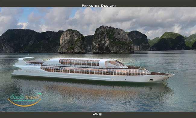 Siêu phẩm du thuyền Paradise Delight Vietnam chuẩn bị trình diện Vịnh Hạ Long