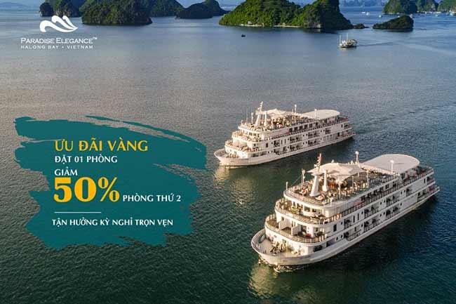 Mùa thu mùa đẹp nhất để đi du lịch trên du thuyền Paradise Elegance 5 Sao