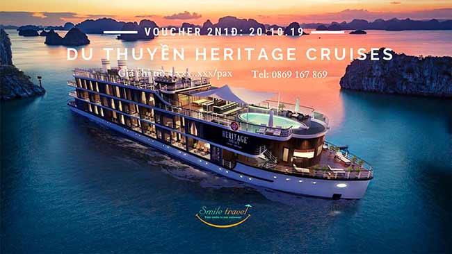 Voucher 2N1Đ Du thuyềnHeritage Cruise5*, Dịp 20 – 10