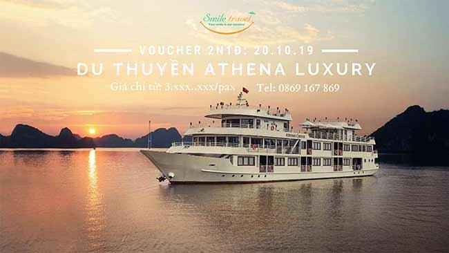 Voucher 2N1D Du thuyền Athena Luxury 5*, Dịp 20 – 10