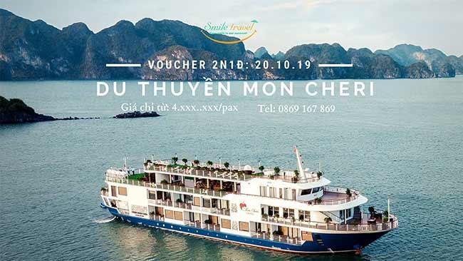 Voucher 2N1Đ Du thuyềnMon Cheri5*, Dịp 20 – 10
