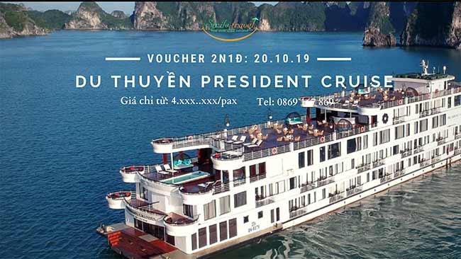 Voucher 2N1D Du thuyền President 5*, Dịp 20 – 10