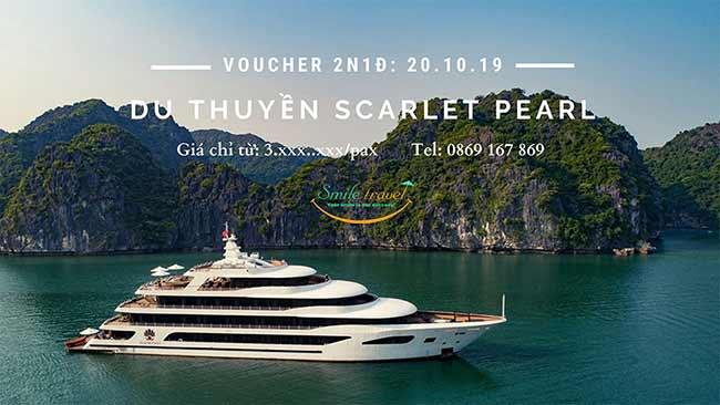 Voucher 2N1D Du thuyền Scarlet Pearl 5*, Dịp 20 – 10