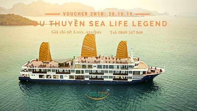 Voucher 2N1Đ Du thuyền Sea Life Legend 5*, Dịp 20 – 10