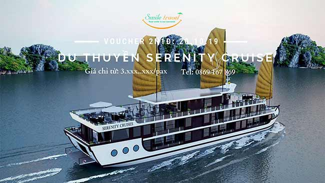 Voucher 2N1Đ Du thuyền Serenity Cruise 5*, Dịp 20 – 10