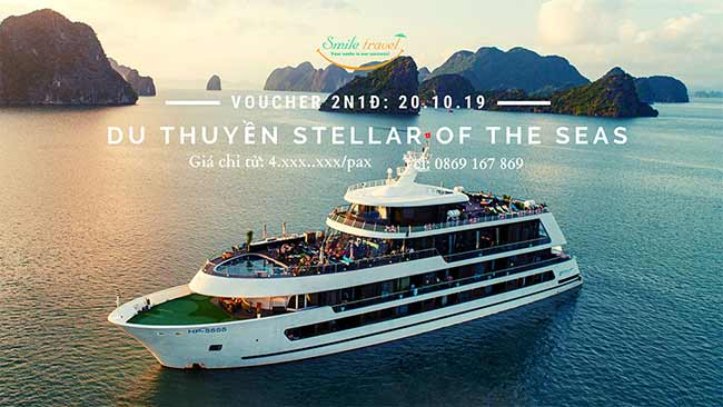 Voucher 2N1Đ Du thuyền Stellar Of The Seas 5*, Dịp 20 – 10