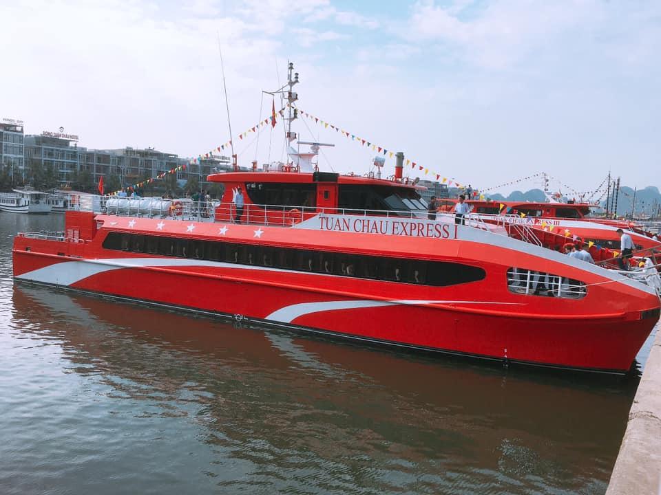 tàu cao tốc 2 thân 5 sao#Tuần_Châu_Expresstuyến Tuần Châu - Đảo Ngọc Cô Tô