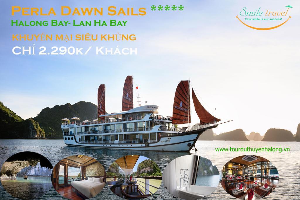 Voucher 2N1D Du Thuyền Perla Dawn Sails 5* GIÁ CỰC SỐC