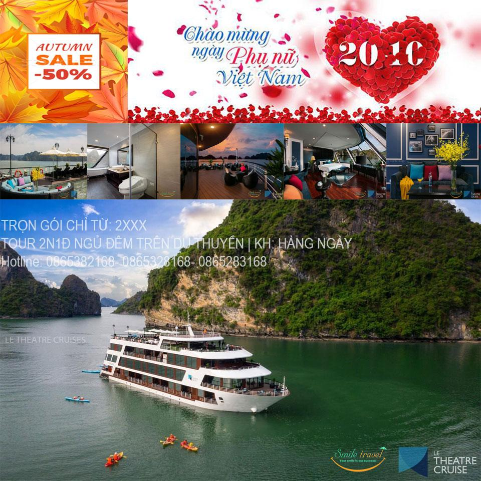 Giảm giá cực sốc Voucher Du thuyền Le Theatre cruises 5* tại Hạ Long