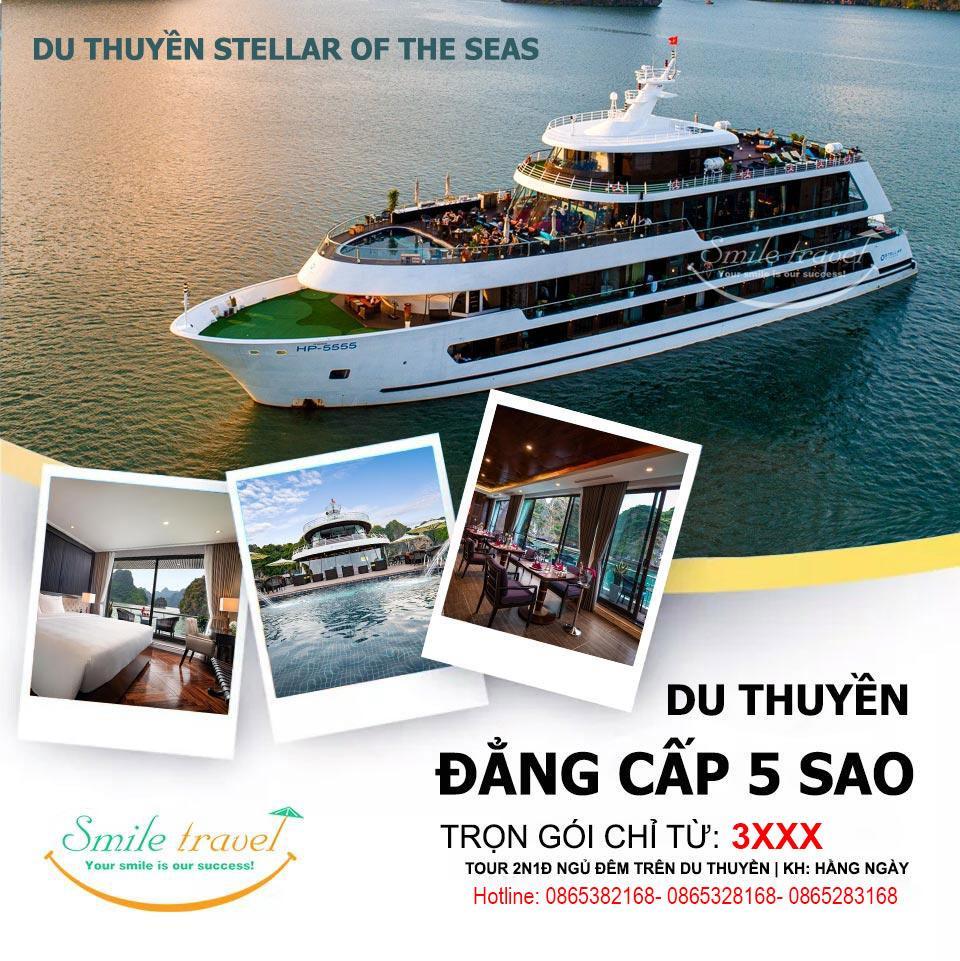 Du thuyền Stellar of the seas khuyến mại giá siêu tốt mừng ngày 20/10