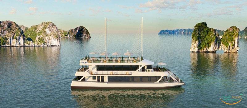 Du thuyền 1 ngày 5 sao Vita Mia Cruises trên Vịnh Hạ Long