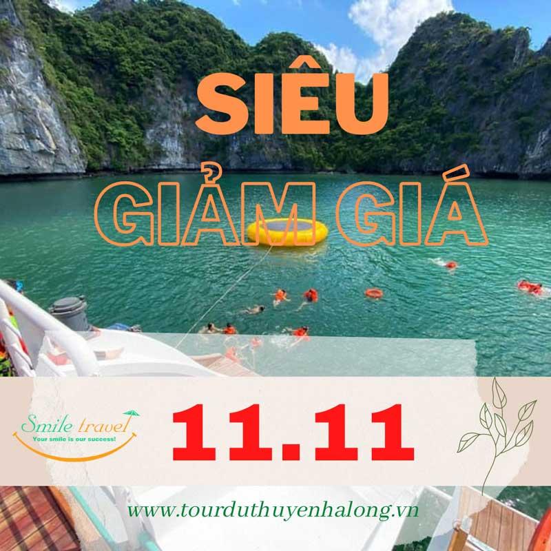 Ngày hội siêu giảm giá 11/11 – Voucher du thuyền giá sập sàn