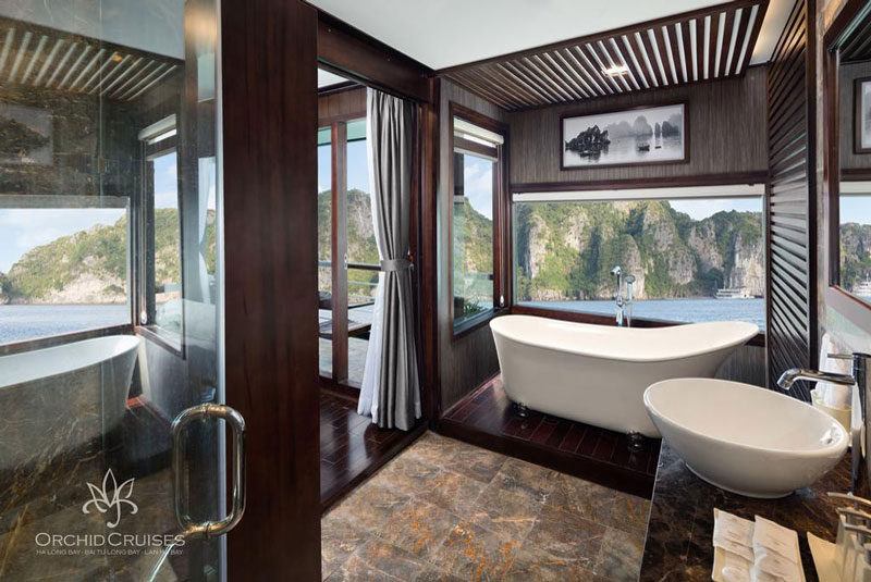 Orchid-cruises-halong-bay-smiletravel-deluxe1-suite-double-bathroom