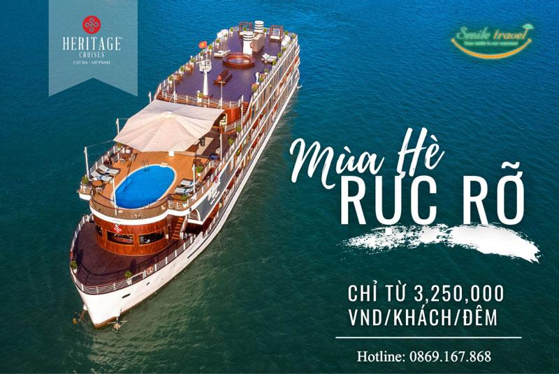 Du Thuyền Hạ Long 2021 giảm 45%- Du Thuyền Heritage Bình Chuẩn 5*
