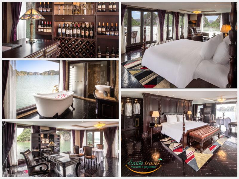 hạng phòng du thuyền ambassador cruise Halong- Smile travel
