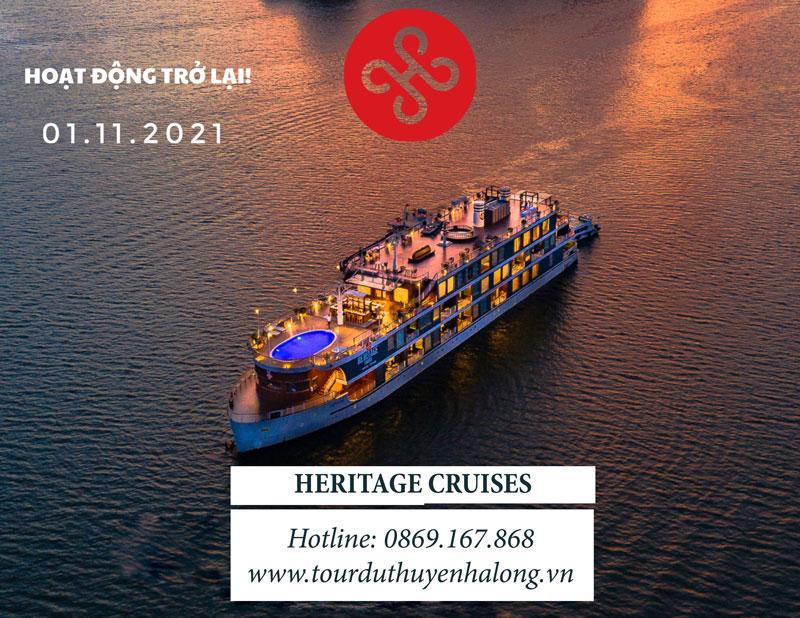 Heritage Bình Chuẩn Cát Bà Đổi Bến Nhà chờ Lux Cruises, Lô 28 Cảng tàu khách Quốc tế Tuần Châu